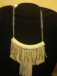 silver chandelier necklace