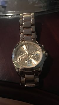 round silver chronograph watch with link bracelet St Catharines, L2S 3W8