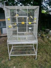 white metal wire pet cage 9 km