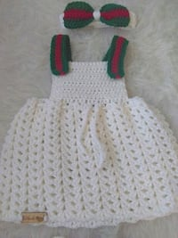 white and green knitted dress Jacksonville