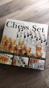 Shot glass chess set.