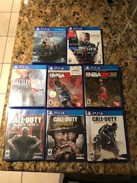 six assorted PS4 game cases Carmichael, 95608