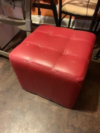 Set of TWO, like new, cushioned side table or seats