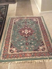 red, white, and black floral area rug Hoover, 35226