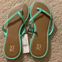 NY & company teal sandals size 6
