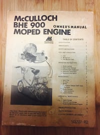Mccullock bhe 900 moped engine manual New Orleans, 70131