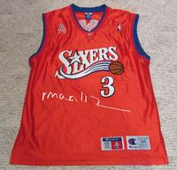 Allen Iverson Authentic Red Jersey Size 44