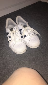 pair of white Adidas Superstar's Woodbridge, 22191