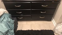 black wooden 6-drawer dresser 48 km