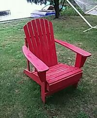 red wooden framed padded armchair Big Lake, 55309