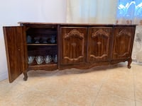 brown wooden sideboard with cabinet New York, 11368