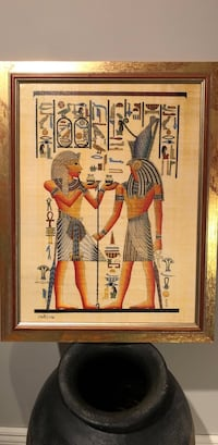 Ancient egyptian hieroglyphics Pictures in frame and statues Newmarket, L3X 0A5