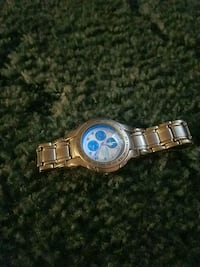 round silver chronograph watch with link bracelet Rocky Mount, 27804