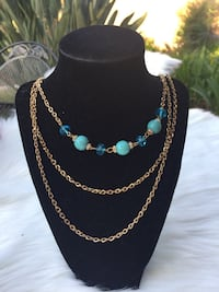 Gold & Turquoise Necklace  Westminster, 92683