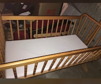 baby's brown wooden crib Whitby, L1N