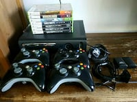 Xbox 360 console 4 controllers and games Los Angeles, 91307