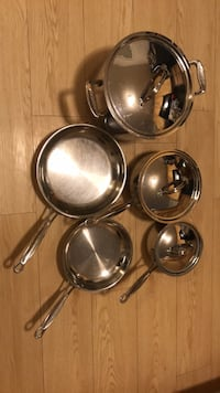 four stainless steel cooking pots Washington, 20011