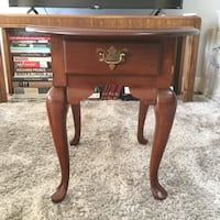 Solid Cherry Wood End Table— vintage Queen Anne Style Tustin, 92780