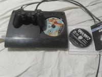 black Sony PS3 super slim console with controller Washington, 20009