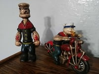two Popeye figurines Pomona, 91768