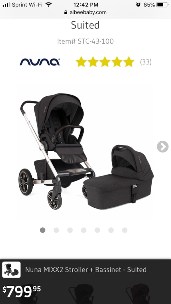 Nuna Mixx 2 Suited Stroller Bassinet Car Seat Collection Baby Carriage