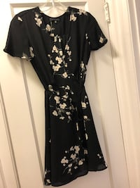Black and white floral wrap dress Toronto, M4S 2L3