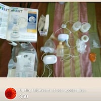 white and pink breast pump set screenshot Laval, H7X 3P1