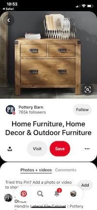 Pottery Barn Hendrix Lateral File Cabinet