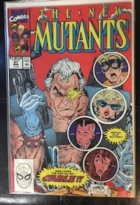 New Mutants #87 comic book - 1st appearance of Cable Frederick, 21702