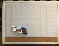 Dry Erase Calendar  Virginia Beach, 23454