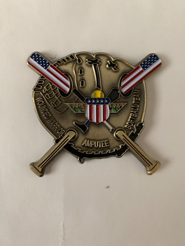 Wounded Warrior Amputee Softball Team challenge coin 9fc547f5-1a86-4840-983b-74cc9911f627