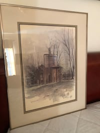 brown wooden framed painting of house Clovis, 93611