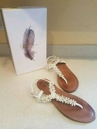pair of brown leather sandals Sanford, 32773