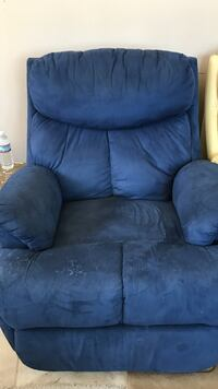 Navy blue reclining sofa chair Springfield, 22153