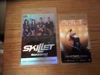 Epica and Skillet VIP Passes Milford, 01757