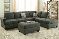 Gray sectional couch with ottoman Las Vegas
