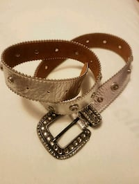 Real silver leather belt with Swarovski  Toronto, M2M 4B9