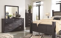 Queen Size 6 Piece Set Panel Bed BRAND NEW Philadelphia