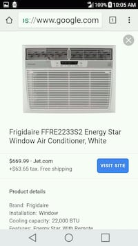 white Frigidaire window type air conditioner scree Palmdale