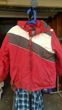 red and white zip-up jacket Shoreview, 55126