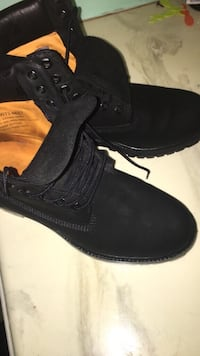 pair of black lace-up suede work boots Huntsville, 35810