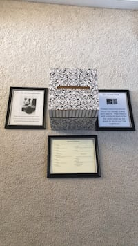Box for Cards and Gifts and Matching frames for wedding signage  Frederick, 21702