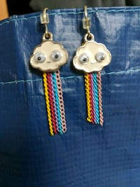 Rain cloud rainbow claire's chain earrings Montgomery Village, 20886