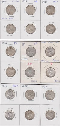 Canadian 25 Cents Collection CALGARY