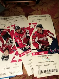 Capital One vs Detroit Red Wings ticket lot Washington, 20002