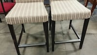 A pair of 2 beautiful upholstered bar stools.  Edmonton, T6X 1A4