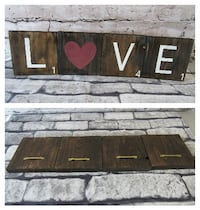 Love Scrabble Letter Wall or Shelf Home Decor Mission