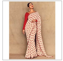 Polka dot saree (2pieces available)