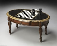 Fossil Stone Game Table Live Oak