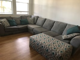 3-Piece Sectional and Matching Ottoman